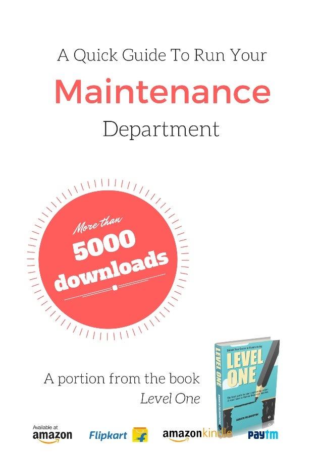 MAINTENANCEMODULEAn initiative of Hash Management Services LLPA Business Sense PublicationFor more free resources visit ww...