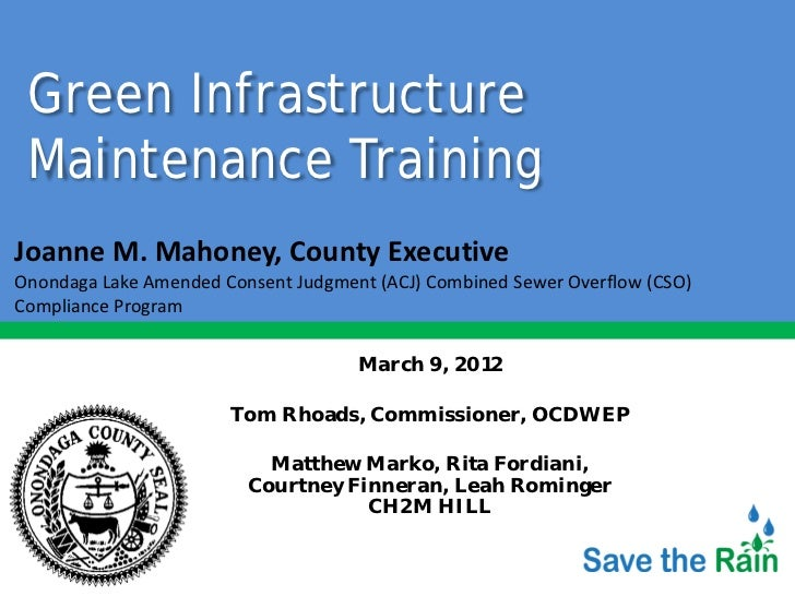 Green Infrastructure Maintenance Workshop