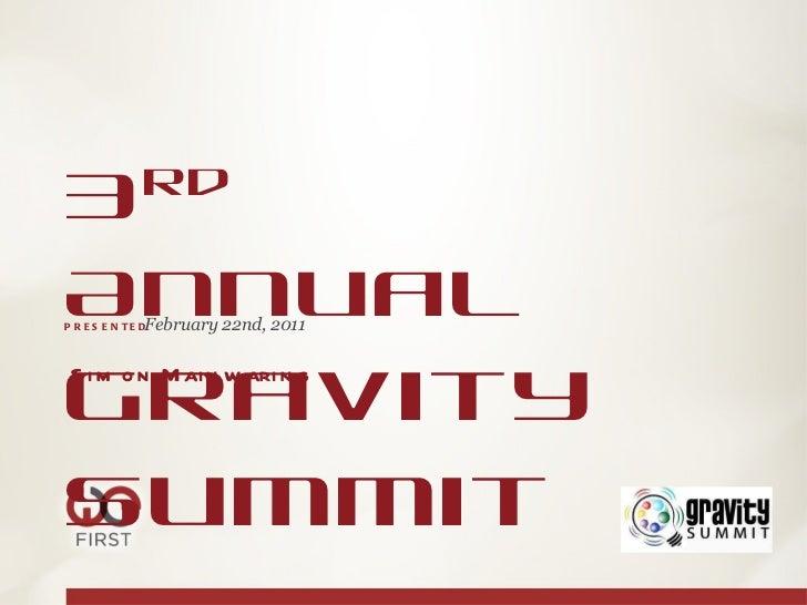 GGravity Summit Keynote - Simom Mainwaring