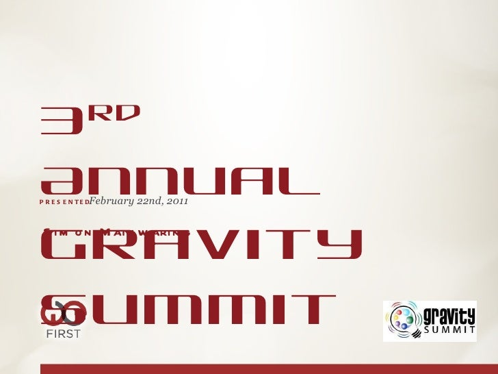 Gravity Summit speech deck