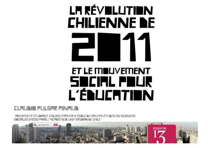 Débat: La révolution chilienne de 2011 et le mouvement social pour l'éducation