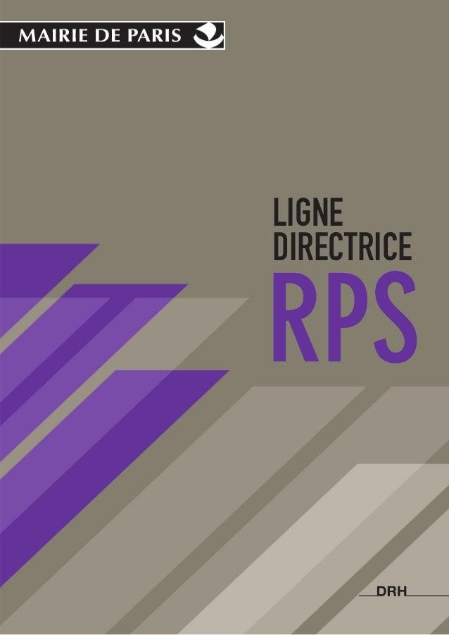Mairie de paris,   ligne directrice RPS