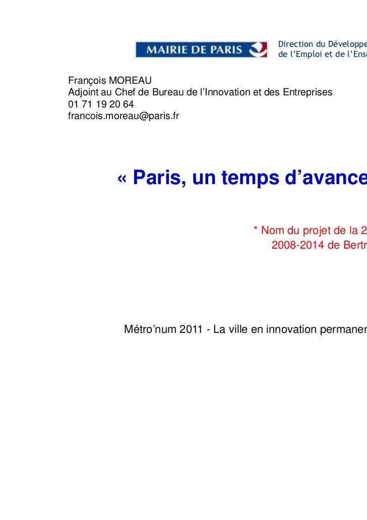 Mairie Paris_François Moreau la ville en innovation permanente