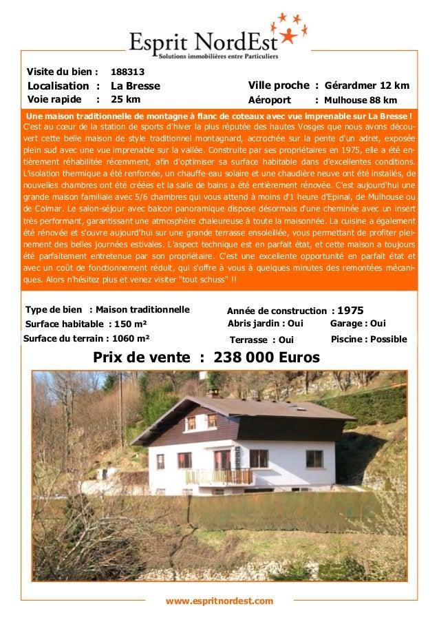 Une maison traditionnelle de montagne à flanc de coteaux avec vue imprenable sur La Bresse ! C'est au cœur de la station d...