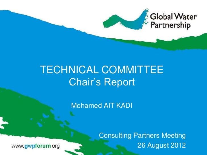 TECHNICAL COMMITTEE    Chair's Report    Mohamed AIT KADI           Consulting Partners Meeting                       26 A...