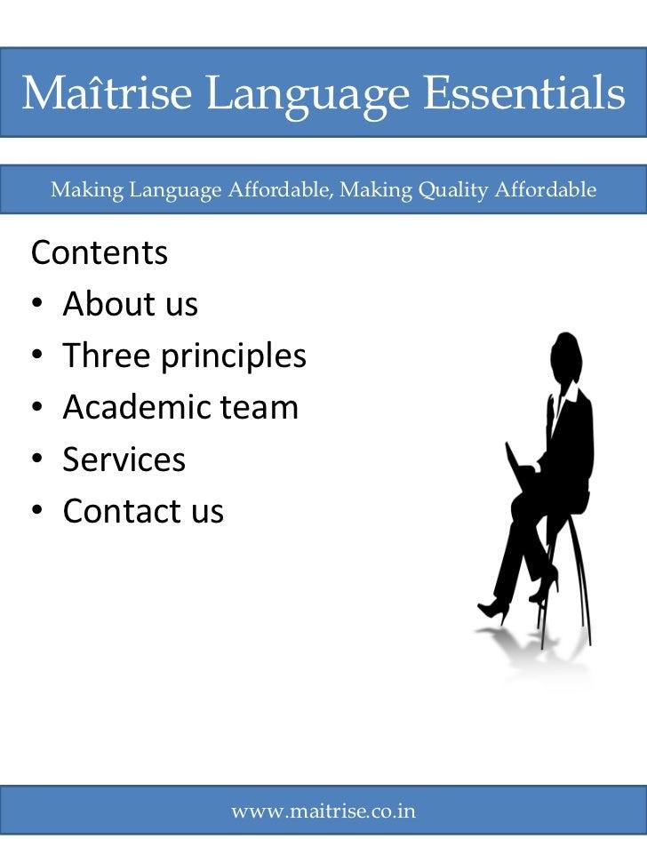 <ul><li>Contents </li></ul><ul><li>About us </li></ul><ul><li>Three principles </li></ul><ul><li>Academic team </li></ul><...