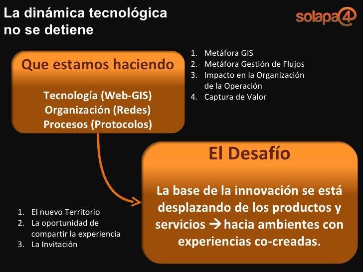 La dinámica tecnológica no se detiene <ul><li>Metáfora GIS </li></ul><ul><li>Metáfora Gestión de Flujos </li></ul><ul><li>...
