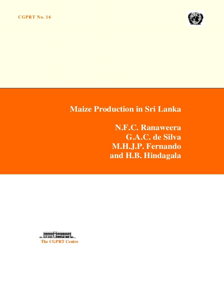 Maize production in sri lanka