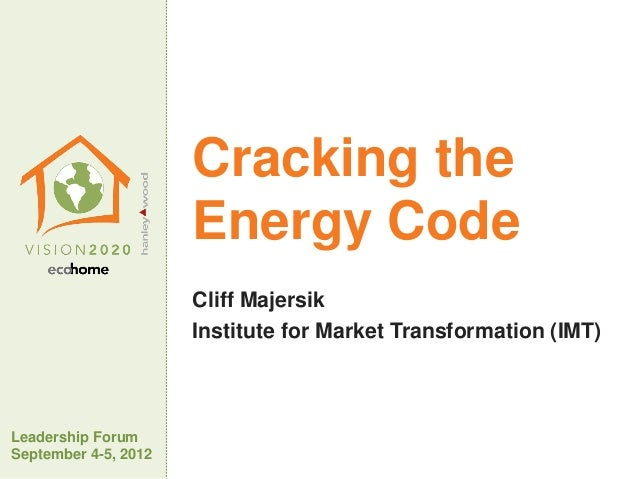 Vision 2020: Cracking the Energy Code