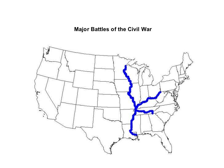 Major battles of the American Civil War