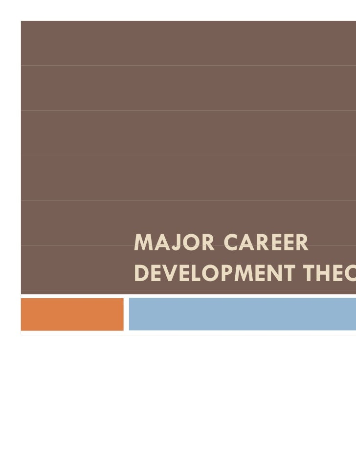 theory of career development essay