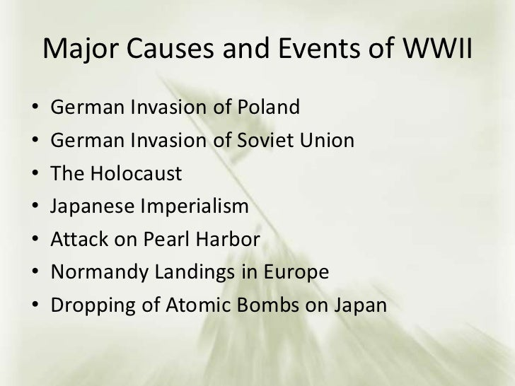 essays about the causes of world war 2 Suggested essay topics and study questions for history sparknotes's world war ii (1939–1945) perfect for students who have to write world war ii (1939–1945) essays.