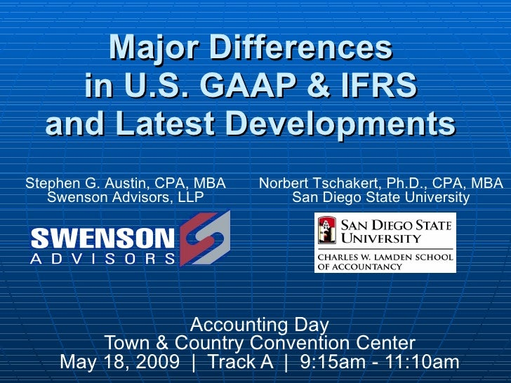Major Differences Between US Gaap And IFRS