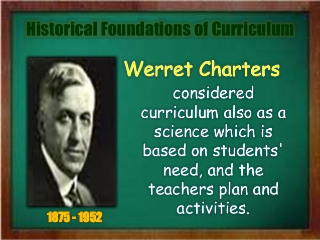 historical foundations of curriculum