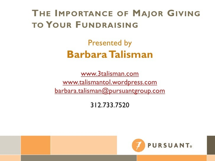 The Importance of Major Giving in Fundraising