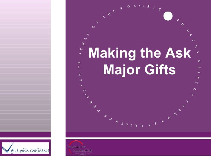 Making the Ask Major Gifts