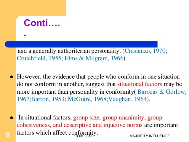 the factors that influence and individual to conform to a deviant group Chapter 3: how groups function that influence group functioning and individual experience of but refuse to conform to group norms when they are.
