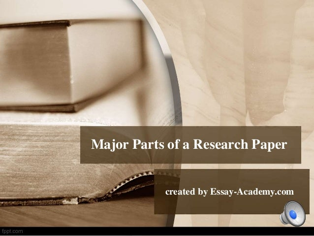 What are the parts of a research paper