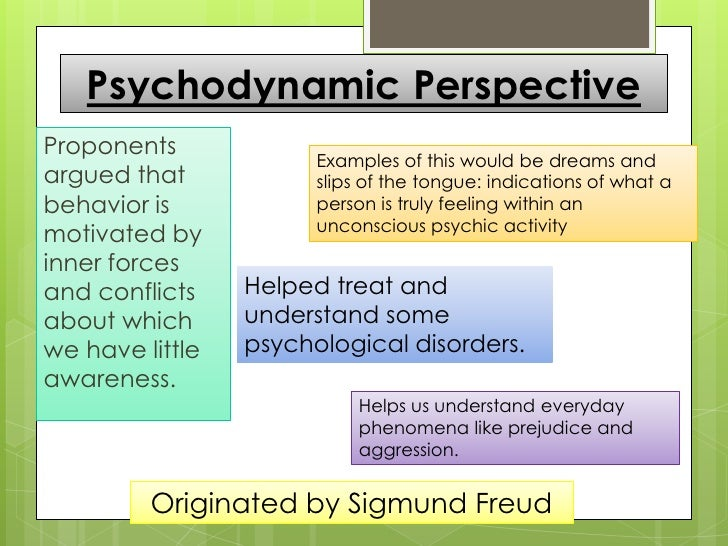 Major Perspective in Psychology