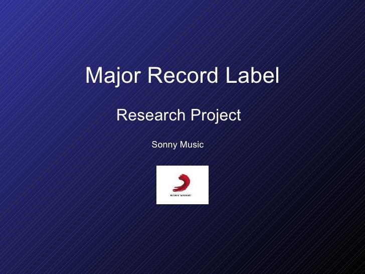 Major record label