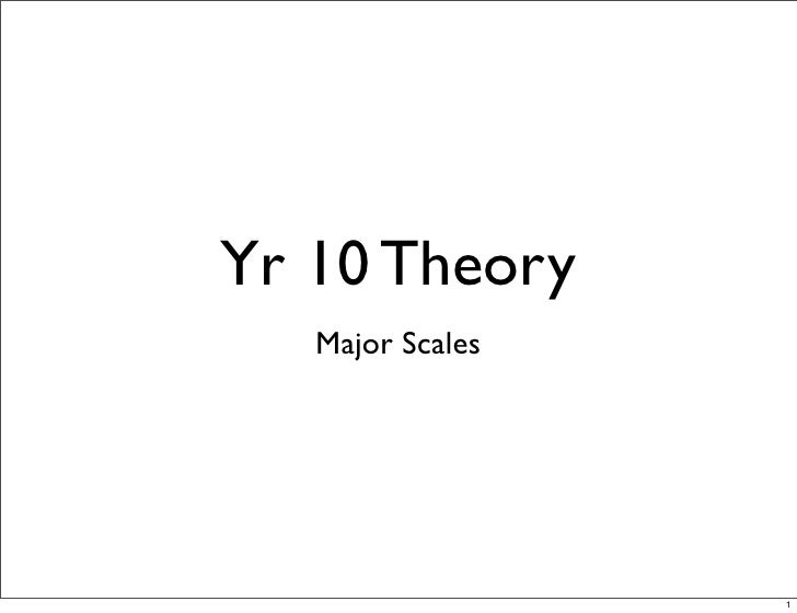 Yr 10 Theory    Major Scales                       1