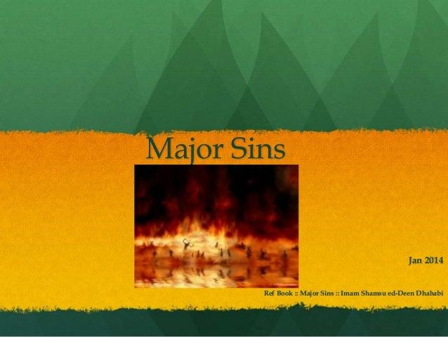 Major Sins Ref Book :: Major Sins :: Imam Shamsu ed-Deen Dhahabi Jan 2014
