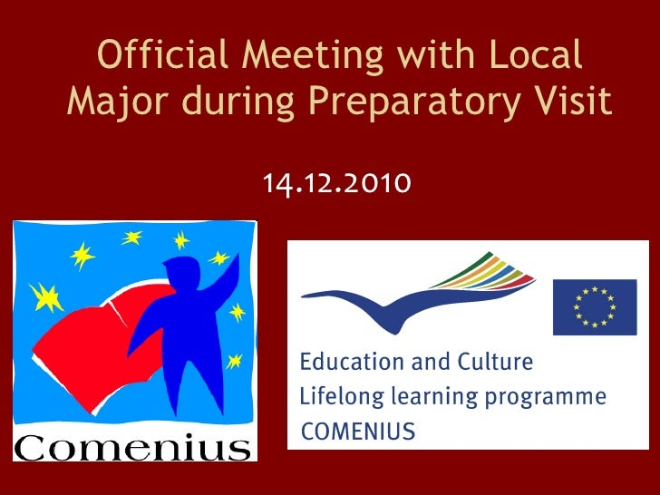 Official Meeting with Local Major during Preparatory Visit 14.12.2010