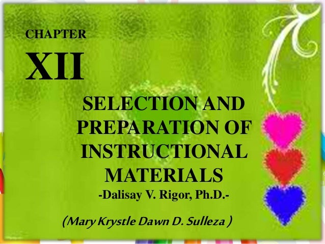 thesis about preparation of instructional materials The role of instructional materials in pupils academic performance: a case study of some selected primary schools in ikpoba okha local government area of edo state.