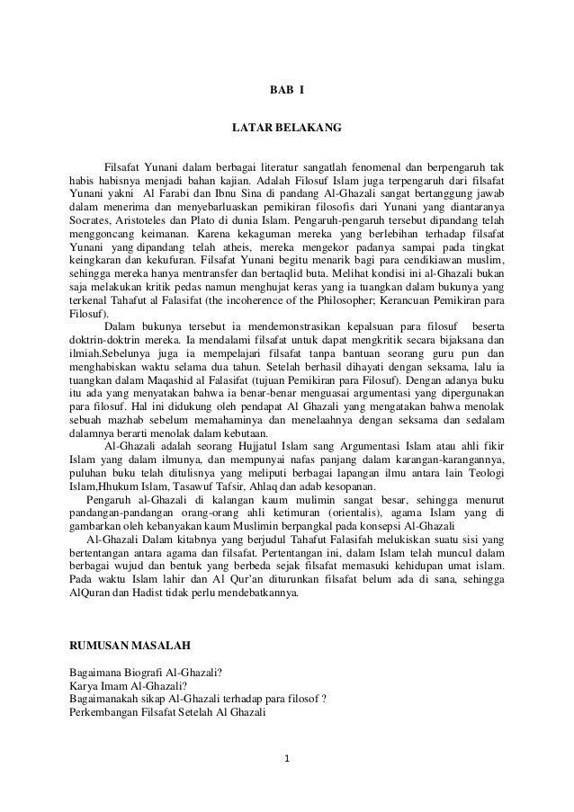 Al Ghazali  Kritik kepada Filosuf