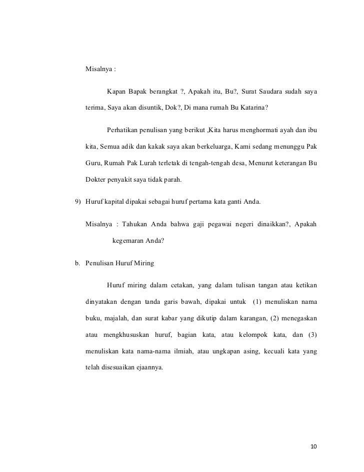 Makalah bahasa indonesia tentang ejaan