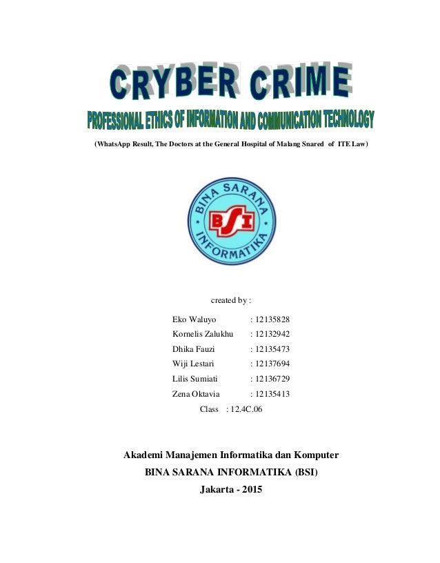 Makalah cyber crime dalam Bahasa Inggris dan Indonesia