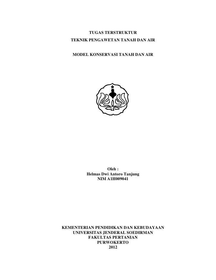 Model Konservasi Tanah dan Air oleh Helmas