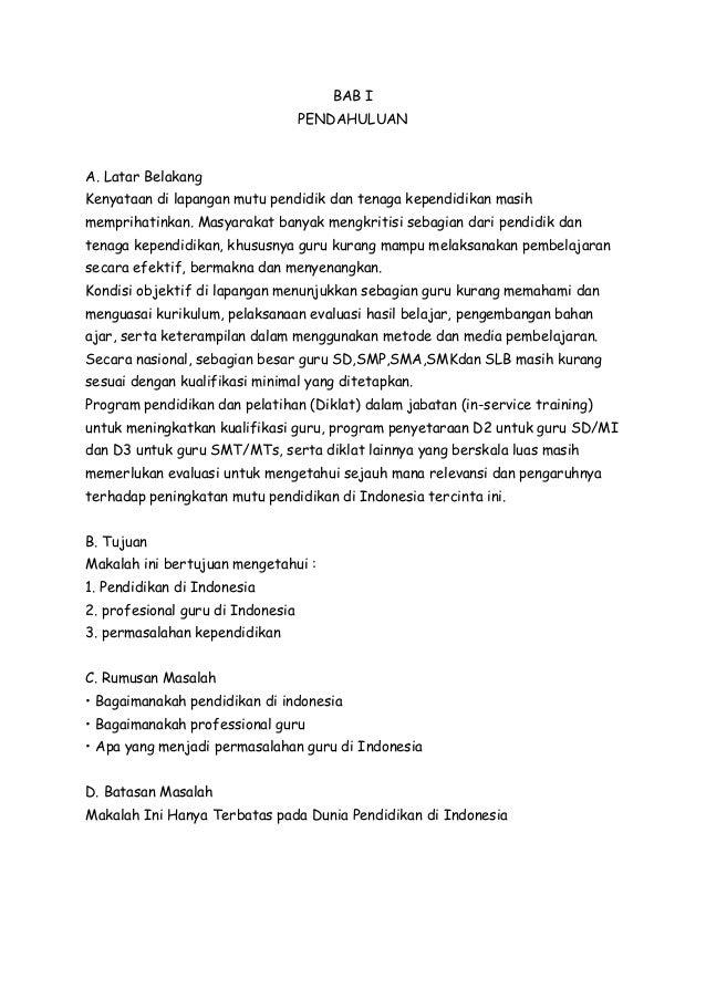 Makalah profesi kependidikan di indonesia SMA 1 RAHA KABUPATEN MUNA