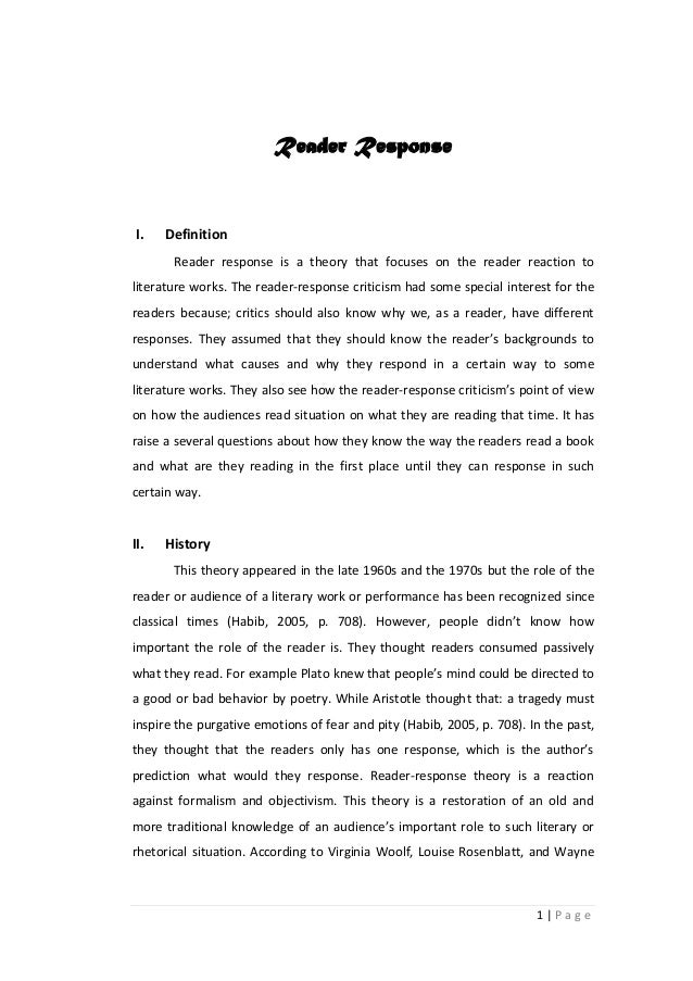 Response Essay How To Write A Reader Response Steps With Pictures