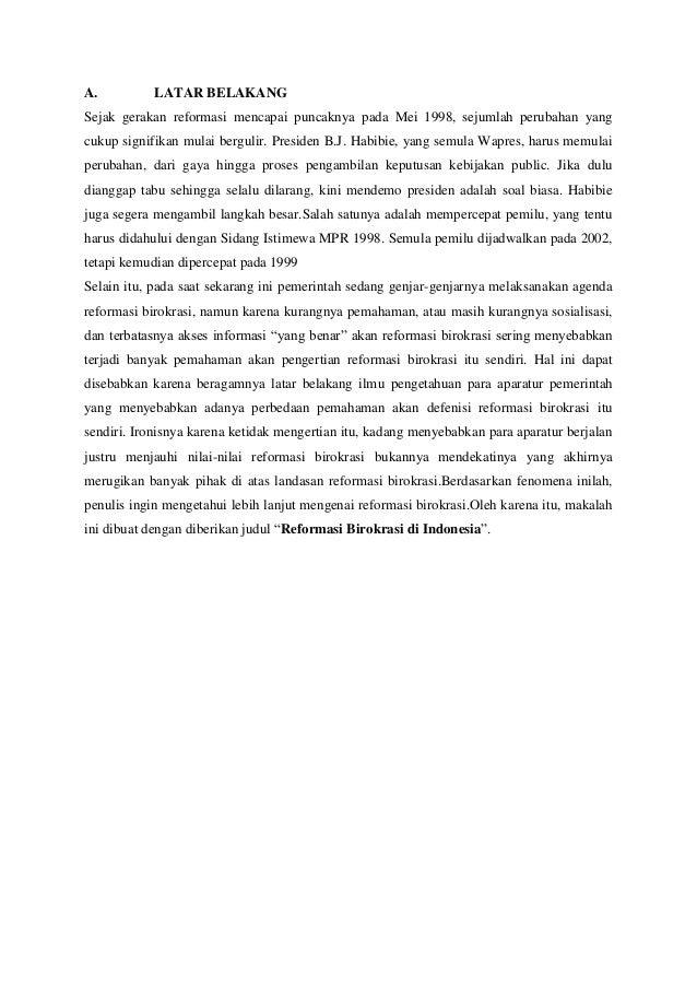 Makalah revormasi birokrasi STIP WUNA