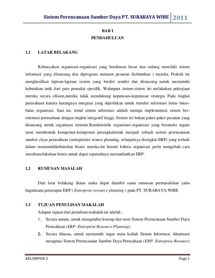 Sistem Perencanaan Sumber Daya PT. SURABAYA WIRE                          2011                                            ...