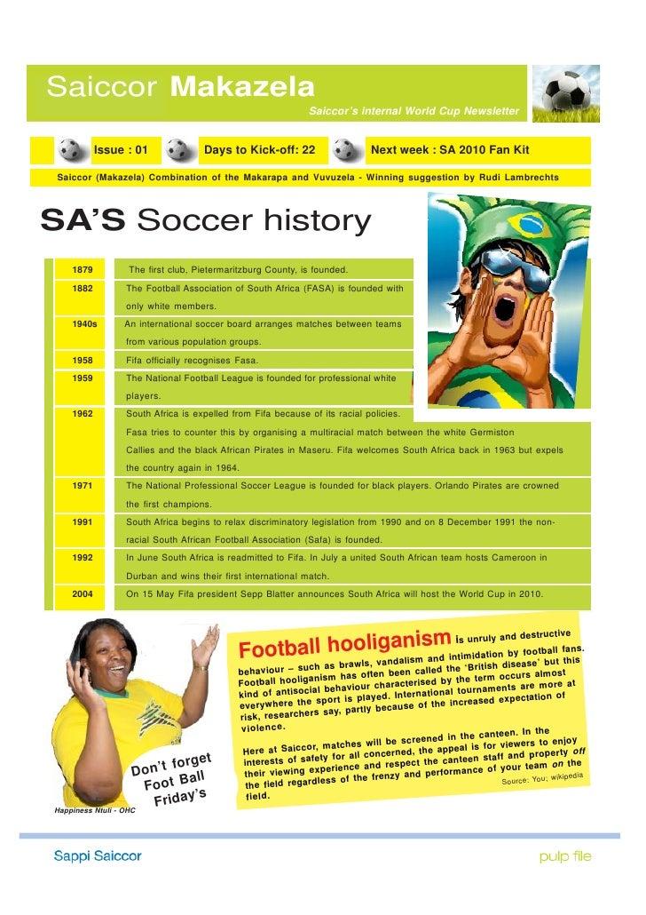 Saiccor Makazela                                                                Saiccor's internal World Cup Newsletter   ...