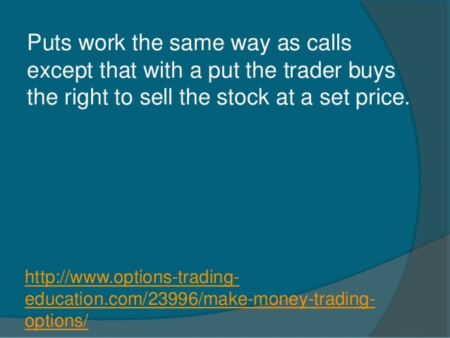 Making money trading stock options