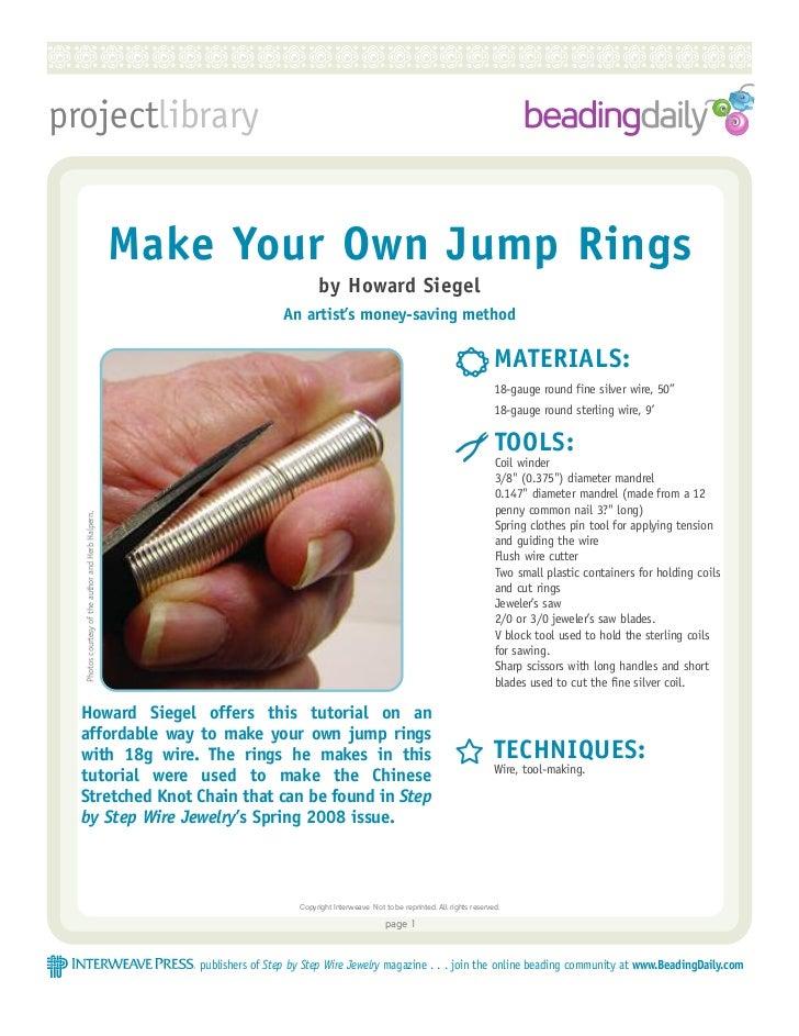 RRRRRRRRRRRRRRRRRRRRRRRRRRRprojectlibrary                                                    Make Your Own Jump Rings     ...