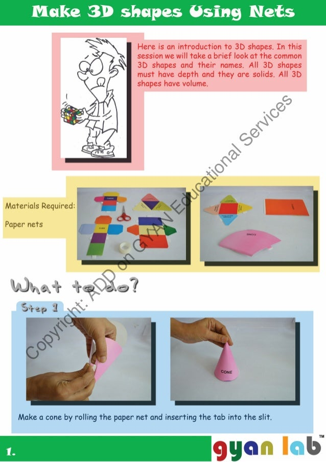 Make 3d Shapes Using Paper Nets