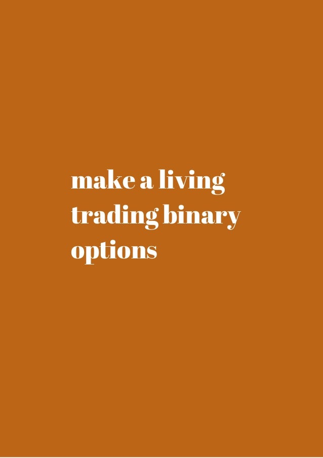 Option trading for a living
