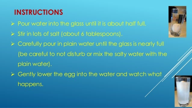 Make an egg float in salt water for How to make saltwater for fish