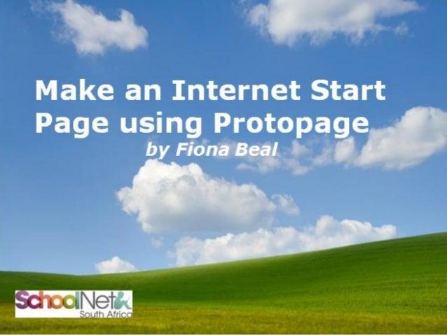 Make an Internet Start Page using Protopage