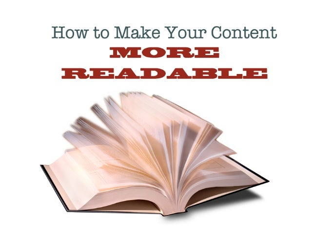 How to Make Your Content More Readable