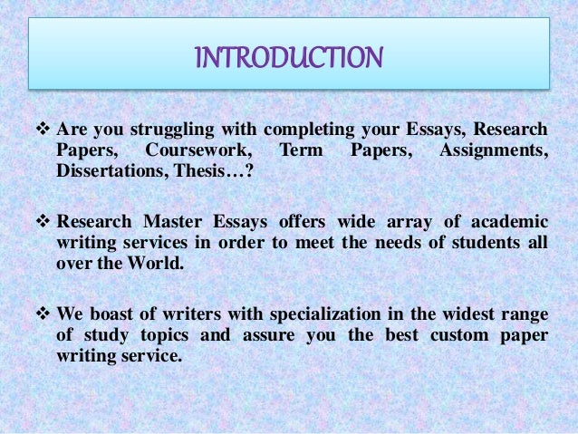 How To Write An Introduction To A Paper