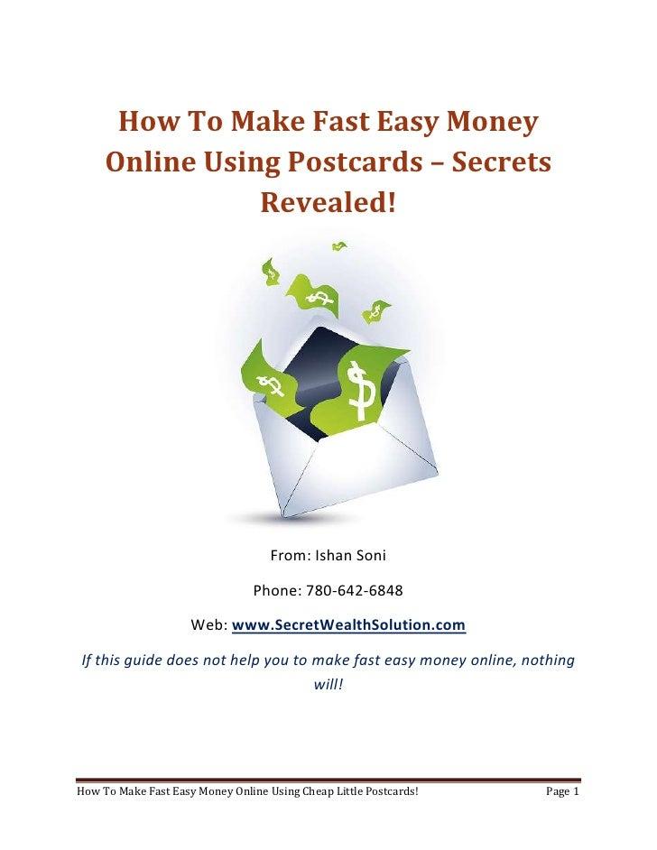 Make Fast Easy Money Online