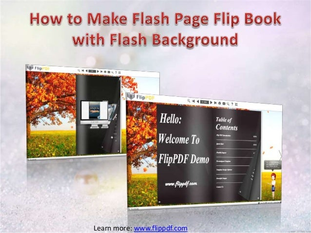 Make Flash Page Flip Book with Flash Background
