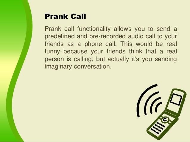 Make Funny Prank Calls through MyPhoneRobot Android App