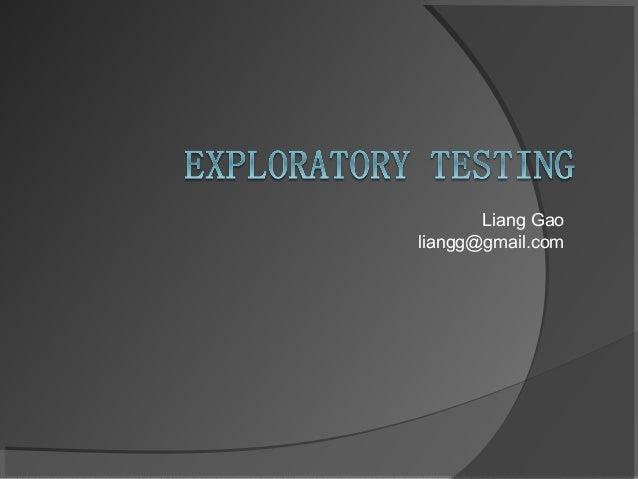 Liang Gaoliangg@gmail.com