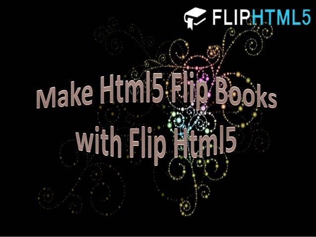 Make html5 flip books with flip html5